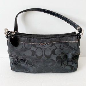 Coach small black signature purse